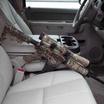 Discrete Defense Solutions - AR15 truck console mount: Gun Holster - DDSVH002